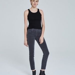 AG The Prima Ankle Mid Rise Cigarette Pants